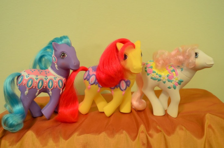 Diamond Dreams (red hair) with two other MGR ponies